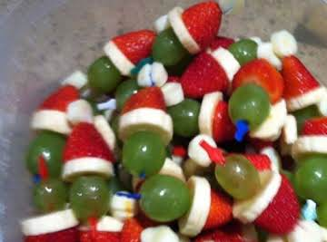 Christmas Grinch Kabobs