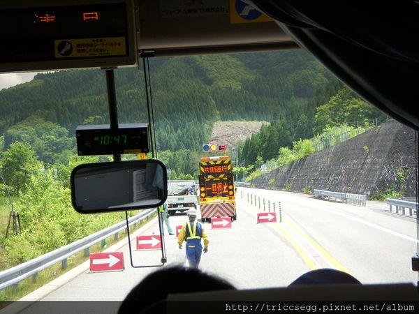 往飛驒路上道路演習封閉