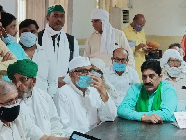 रकाबगंज गुरुद्वारा दिल्ली में किसानों के 100 से ज्यादा राष्ट्रीय अध्यक्षों की मीटिंग हुई