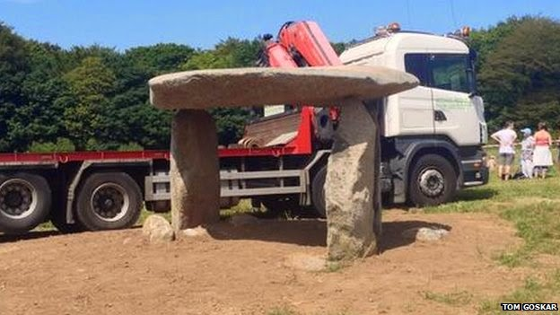 UK: Carwynnen Quoit rebuild completed