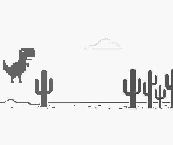 Sabe o joguinho do dinossauro que aparece quando a internet cai?