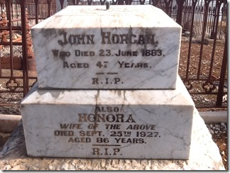 Horgan John and Honora tombstones