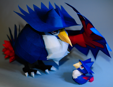 Pokemon Honchkrow Papercraft