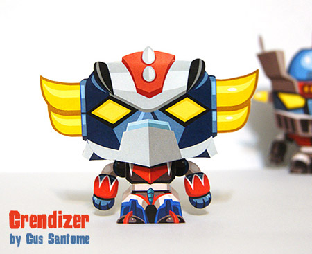 Mini Grendizer Paper Toy