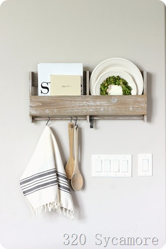 kitchen shelf styling