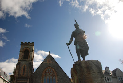 memorial statue of Donald Cameron, Chief of Clan Cameron, Fort William