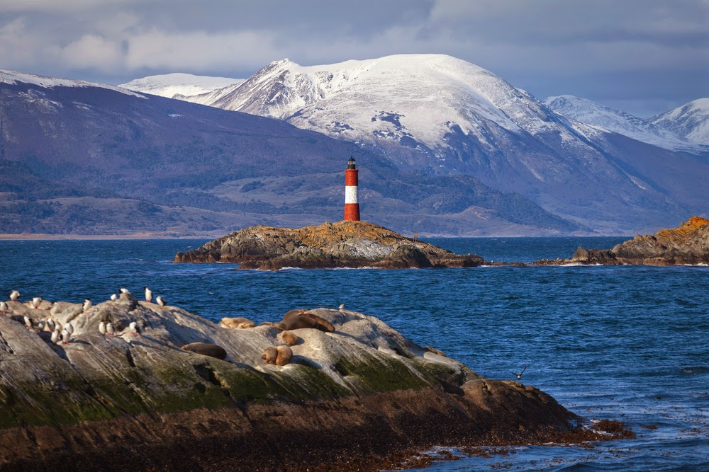 Lighthouse at End of the World, Beagle Channel Ushuaia, Argentina