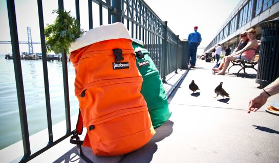 Orange and Green Cornucopia Bag