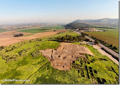 Jezreel and Mount Gilboa aerial from west, ws011215042