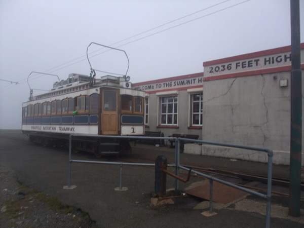 Snaefell Summit Hotel in Clouds