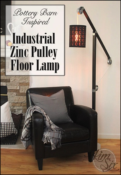 Pottery Barn Inspired Pulley Floor Lamp