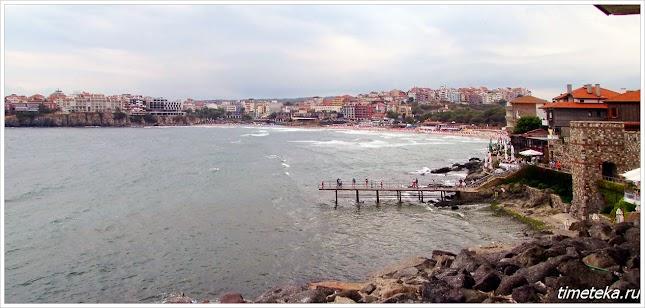 Вид на центральный пляж Созополя