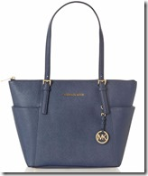 Michael Kors soft navy Jet Set tote bag