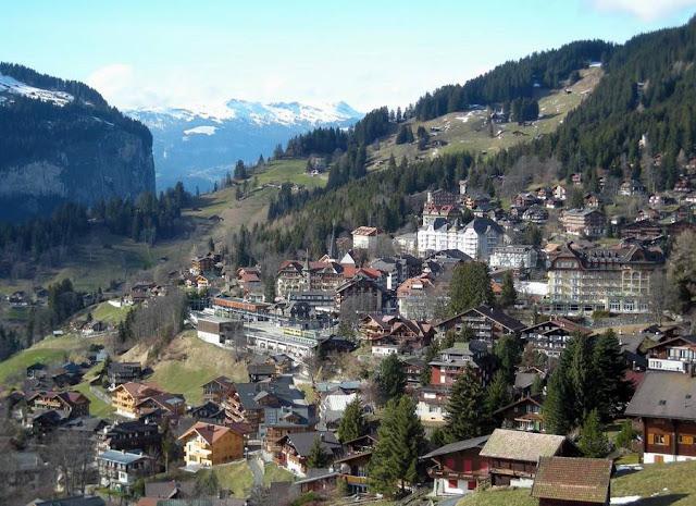Деревня Венген в Швейцарии 2