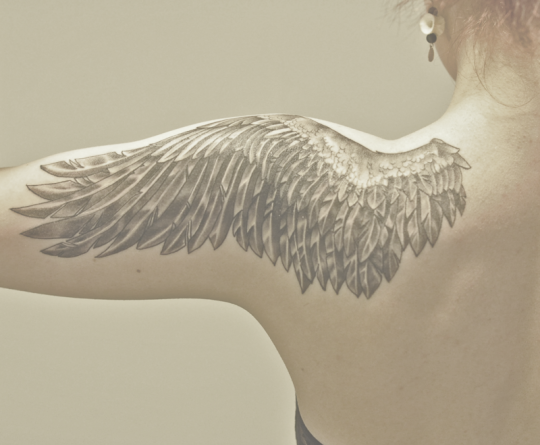 wings for shoulder tattoos
