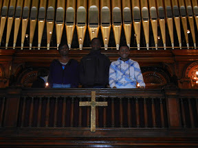 Confirmands in the choir loft