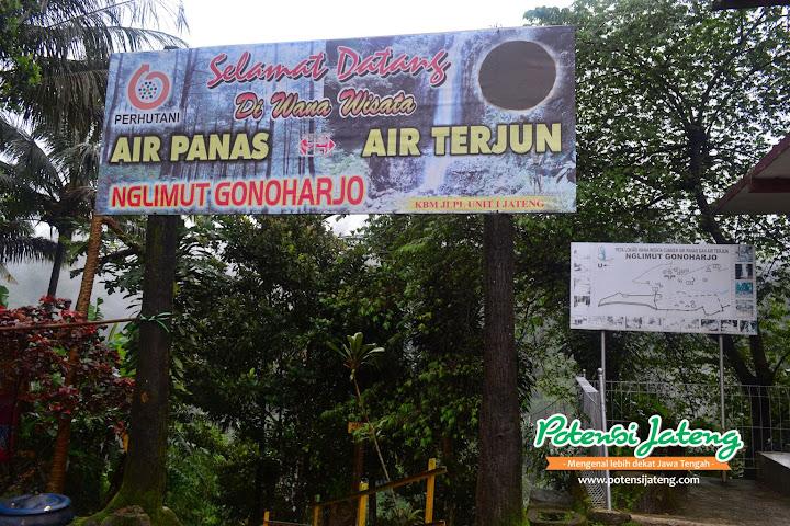 Gerbang dan Loket Pemandian Air Panas Gonoharjo