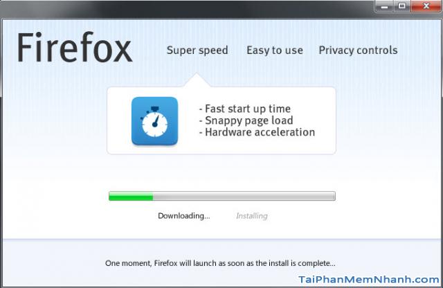 tải bản cài đặt firefox online