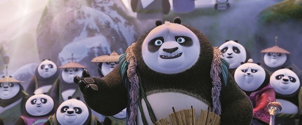 panda village with Li Chan, Po's father in KUNG FU PANDA 3