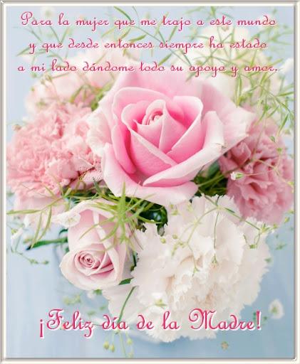 Para la mujer que me trajo a este mundo y que desde entonces siempre ha estado a mi lado dándome todo su apoyo y amor. ¡Feliz día de la Madre!