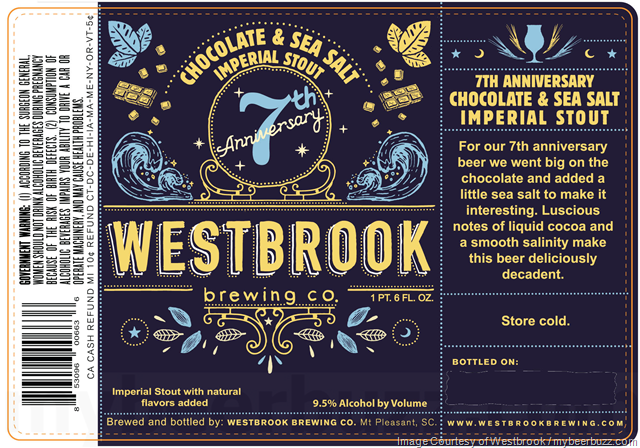Westbrook Brewing 7th Anniversary Chocolate & Sea Salt Imperial Stout