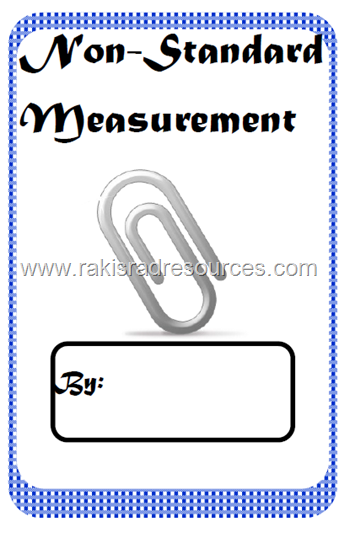 Free download - non standard measurement printable booklet.