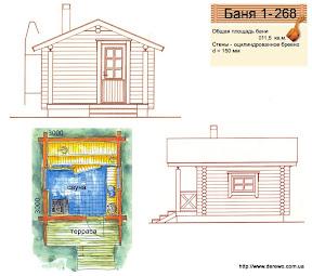 Проект бани 1 - 268