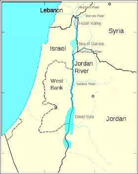 Eli Cohen Jorden River map