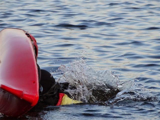 Mariska verdwijnt onder water