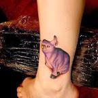 ankle purple - tattoos ideas