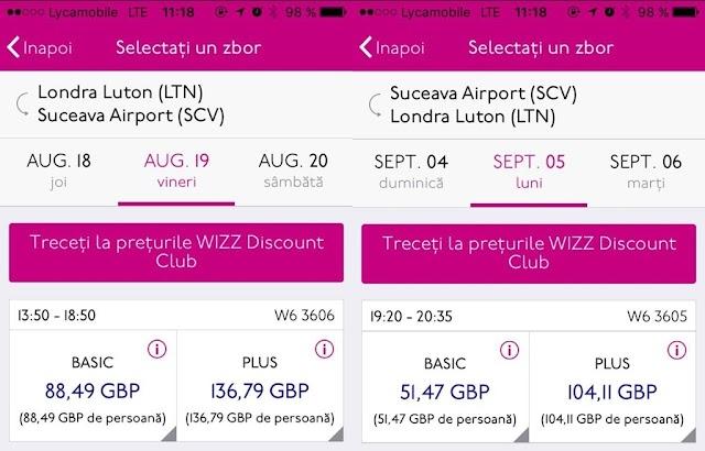 Cum se scumpesc biletele Wizz Air de la o oră la alta