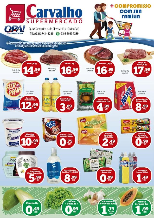 Confira as Promoções do Carvalho Supermercado Rede Opa - Ofertas Válidas nesta Terça e Quarta