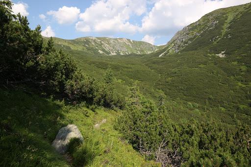 Záver Bobroveckej doliny, vľavo masív Brestovej