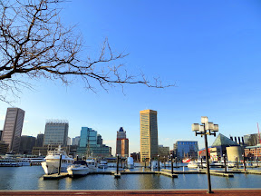 Views from the Inner Harbor of Baltimore Maryland