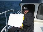 Ein Whiteboard dient zur Kommunikation lebenswichtiger Informationen. - A whiteboard with purpose to live-saving communication.