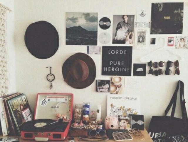 Arrange A Music Wall Next To Your Cd Player Or Record For Tumblr Worthy Space