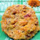 Cucumber carrot semolina pancakes