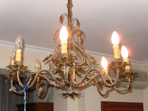 LÁMPARA DE BRONCE. Magnífica lámpara