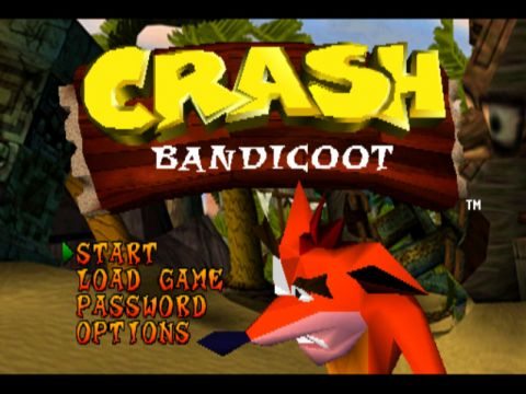 Crash Bandicoot Main Menu Playstation 1