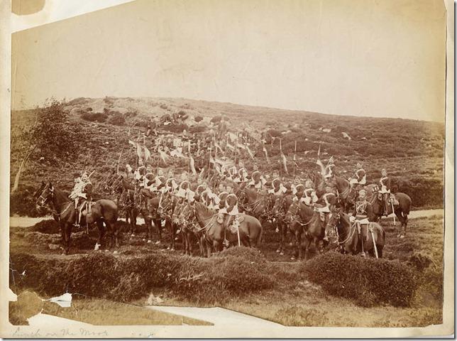 Constabular and lancers in Denbigh