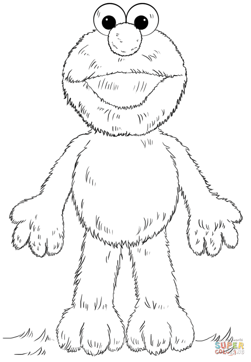 Click The Elmo Coloring Pages To View Printable Version Or Color It Online Patible With Ipad And Android Tablets