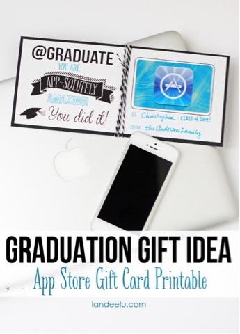 free printable graduation gift idea
