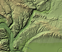 Ice Age Flood features across the Columbia Basalt Plateau (cropped from National Elevation Dataset)