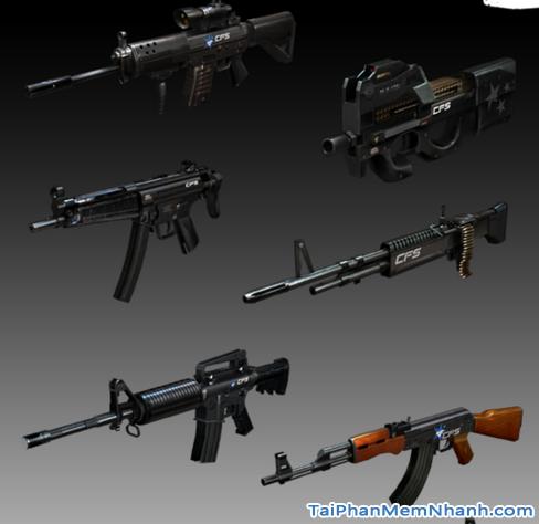 vũ khí phục vụ esport đột kích