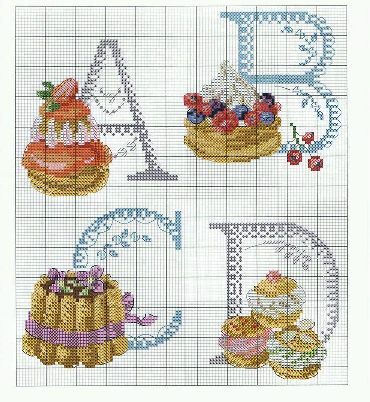 Lo spazio di lilla alfabeto a punto croce dolcissimo for Schemi punto a croce alfabeto