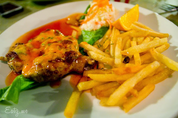 Cheezy Grill Chicken with BBQ Sauce