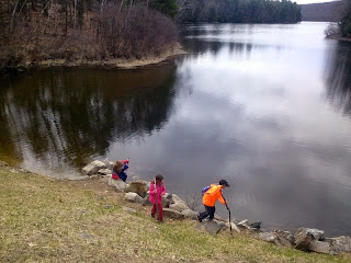 Some of our hikers at Silver Lake. No ice!