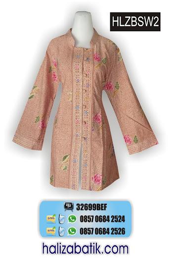 HLZBSW2 Baju Seragam, Blus Wanita, Model Baju Batik, HLZBSW2