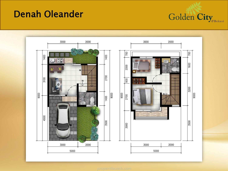 Denah Rumah Oleander Golden City Bekasi