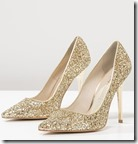 Buffalo gold glitter high heels